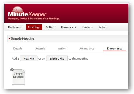 Meeting Document Upload